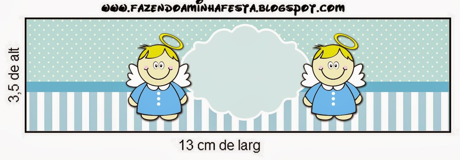 Bautismo Angelito Rubio Etiquetas para Candy Bar para Imprimir