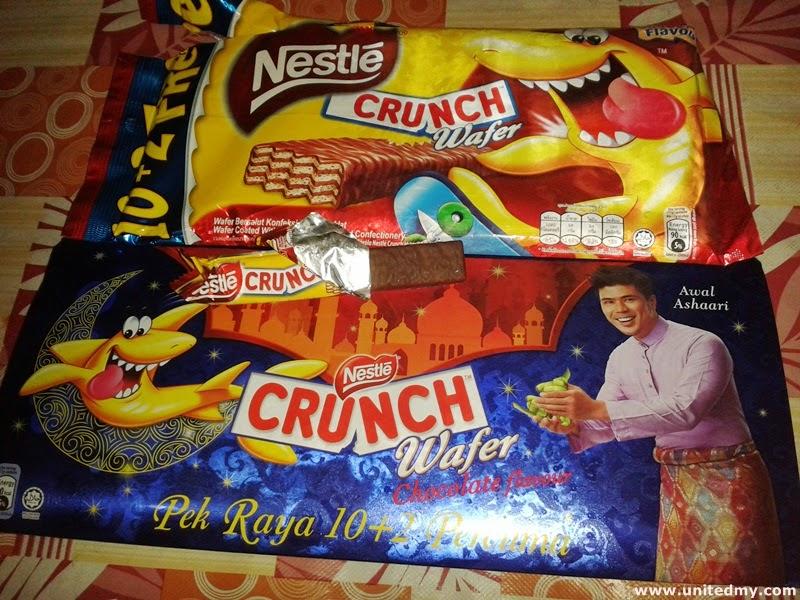 Nestle Crunch wafer with Awal Ashaari