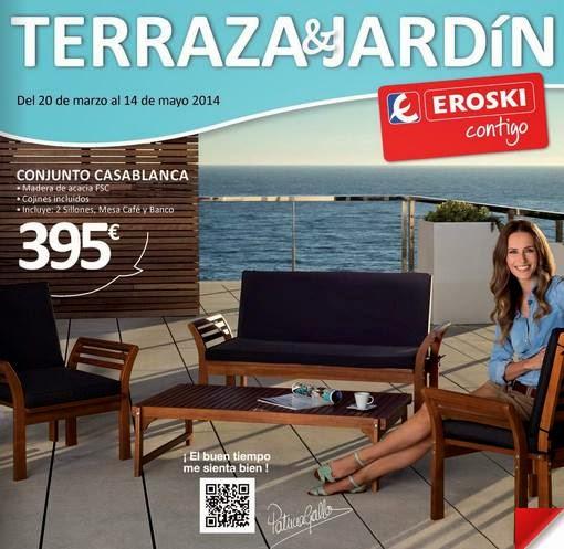 Catalogo de oferta eroski terraza jardin 2014 for Piscinas hinchables eroski