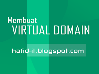 Membuat virtual domain iis