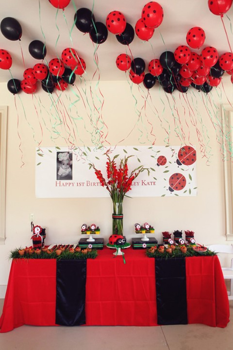 Fiestas Infantiles de Mariquitas - Ladybug Party Ideas ...