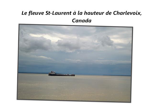 Le fleuve St-Laurent à la hauteur de Charlevoix au Canada