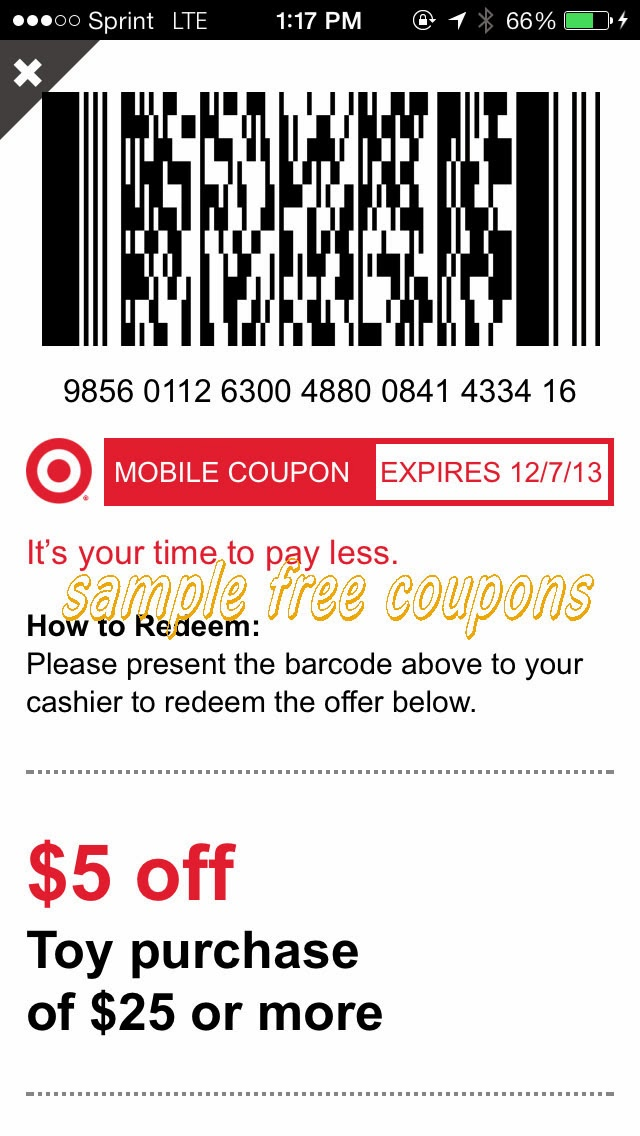 New Target Toy Coupon