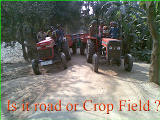 Tractors in Rural Roads