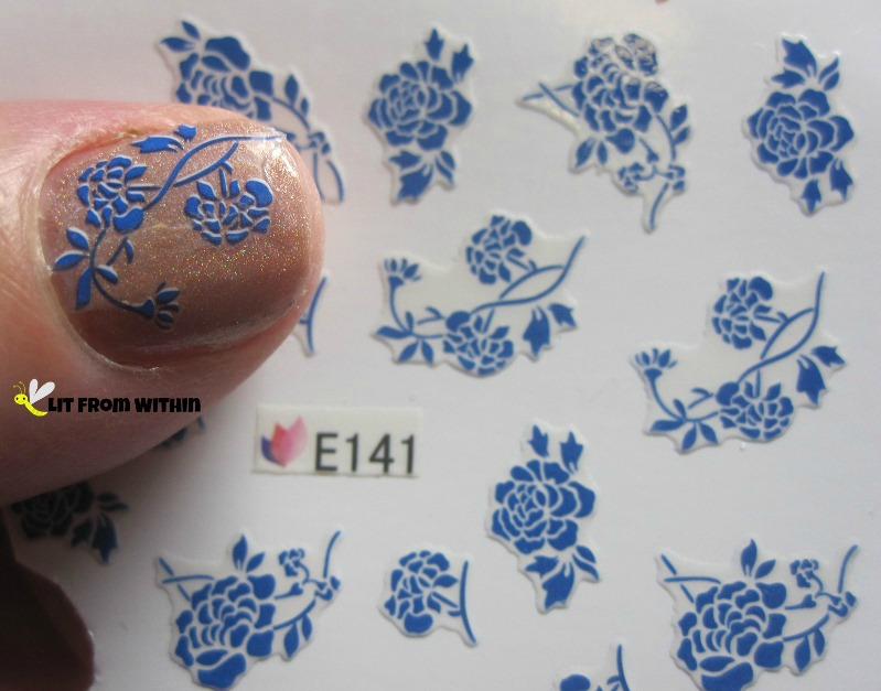rose decals E141 from Born Pretty Store