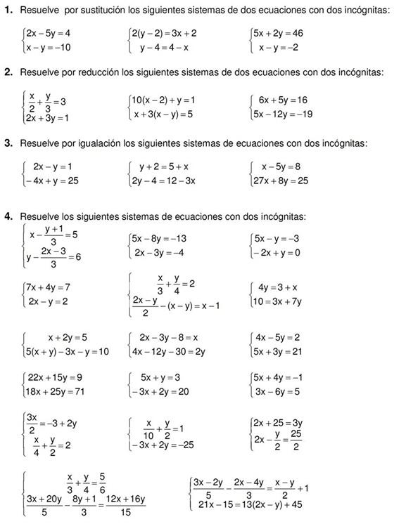Perfecto Ejercicios De Matemáticas Prueba Inspiración - hojas de ...