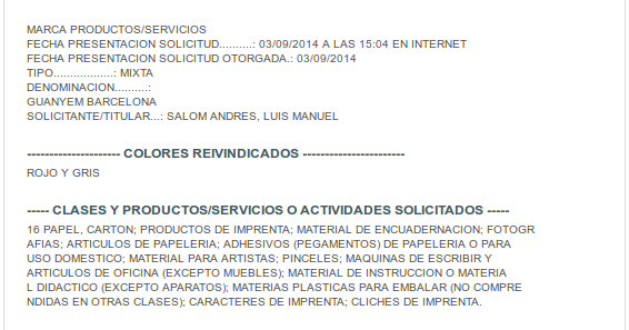 Del derecho y las normas partido pol tico marca for Oficina de registro barcelona
