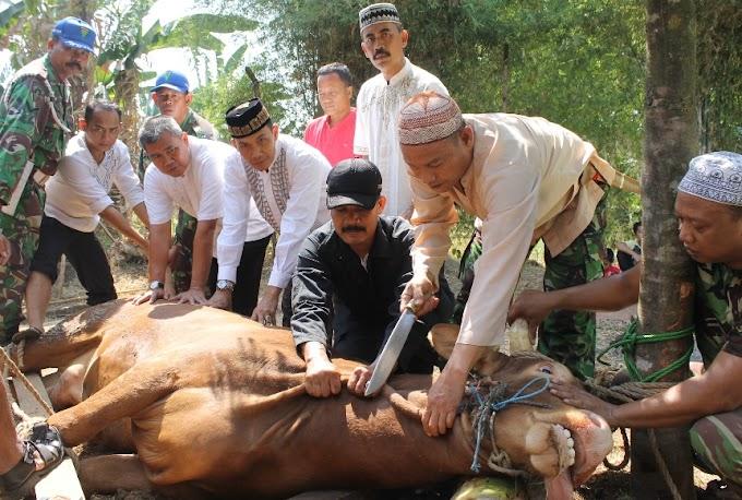 Kodim 0508/Depok Bagikan 250 Paket Daging Kurban