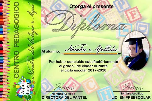 Diploma Para Imprimir Gratis De Kinder