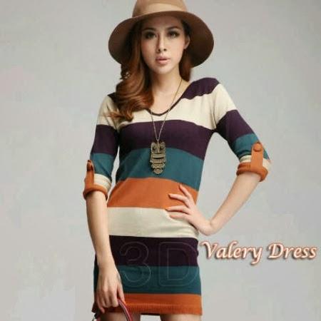 Valery Dress Rajut Milkan Bandung