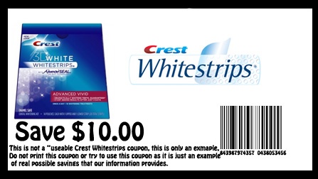 graphic about Crest Printable Coupons identify crest white strips printable coupon