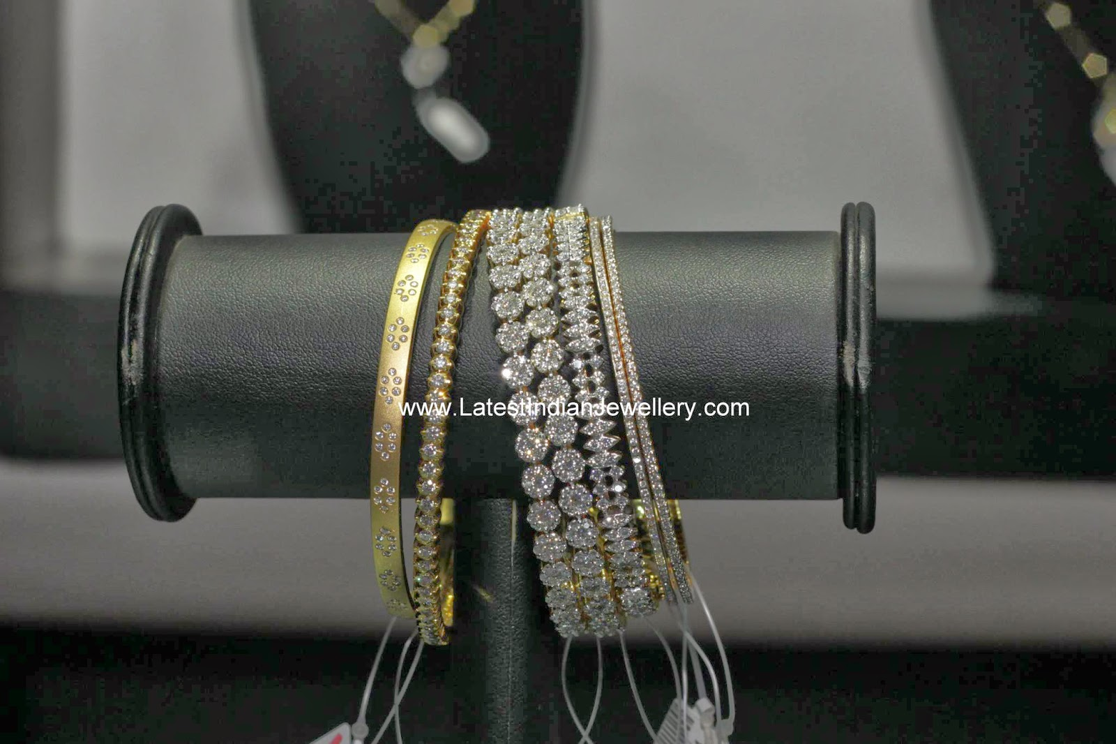 Diamond Gold Bangles Collection