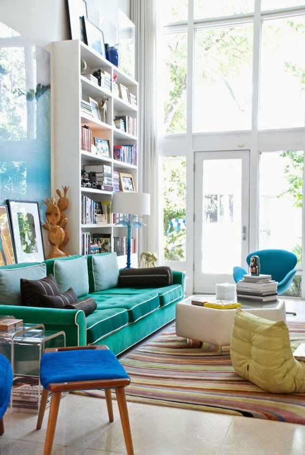 móveis coloridos na decoração - Casa Vogue