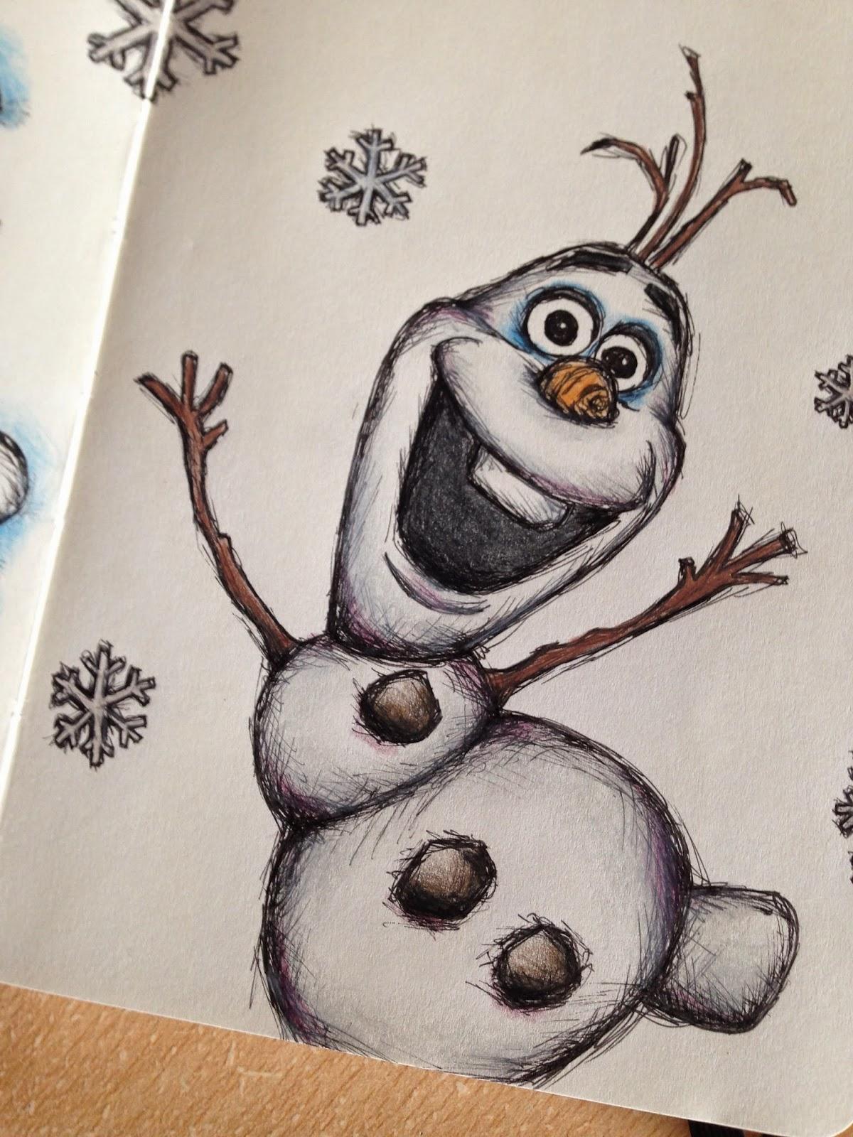 olaf frozen disney sketches