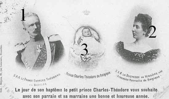 Karl-Theodor en Bavière, duchesse de Vendôme et Charles de Belgique