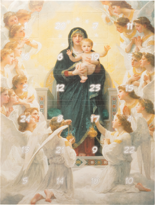 Confiserie Klein Adventskalender mit Pralinen Madonna