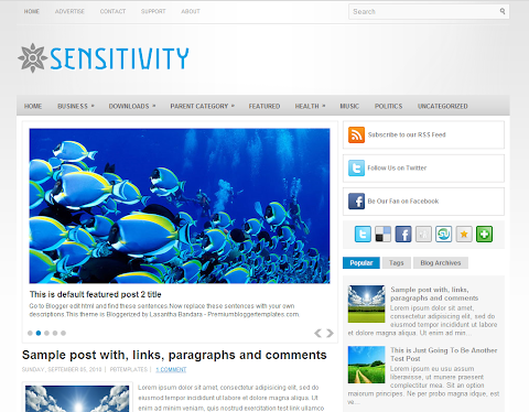 Sensitivity Blogger Theme