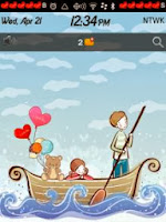 Cartoonic love un tema de amor para blackberry
