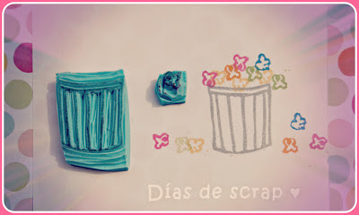scrap sellos handmade palomitas