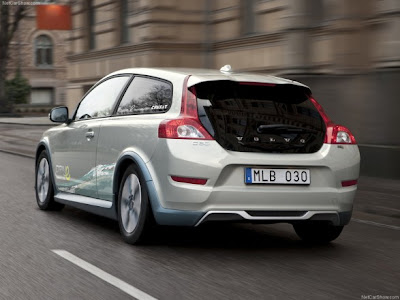 2011-Volvo-C30-BEV-Rear-View-Hybrid-Car