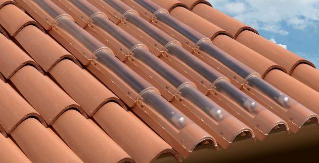 Pannello Solare Termico Integrato Tetto : Arredo in sistema solare termico integrato
