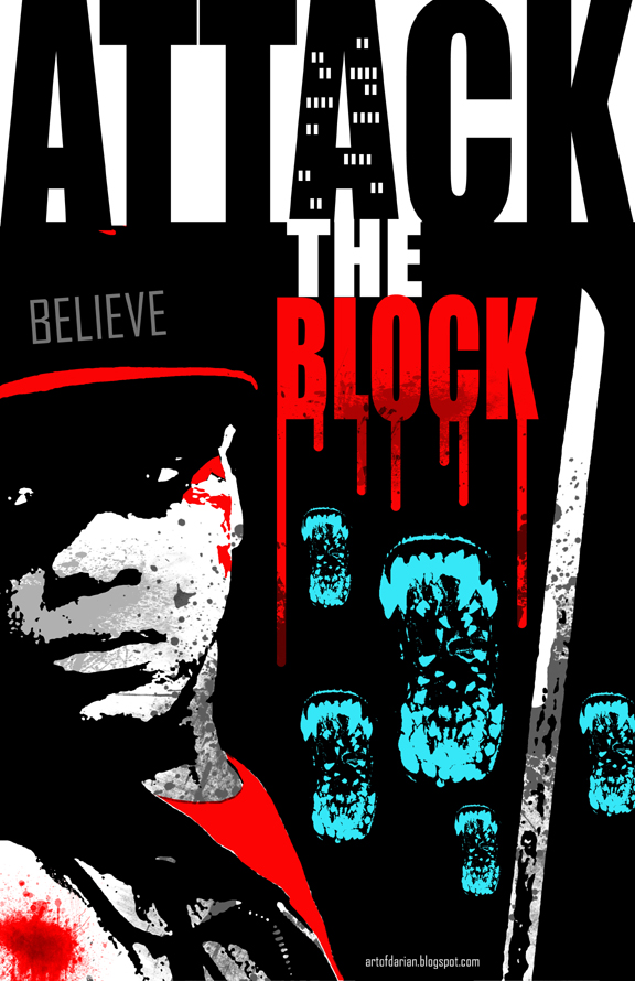 Alternative Poster for the Movie Attack the Block. London, Young adults, alien invasion
