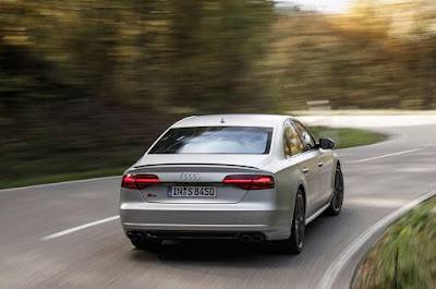 2015 new Audi S8 Plus comvertible with 597bhp back view