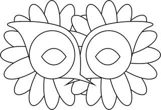 Mascara de carnaval para pintar