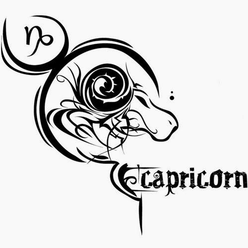 Capricorn zondiac tattoo stencil