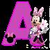 Alfabeto Púrpura de Minnie.