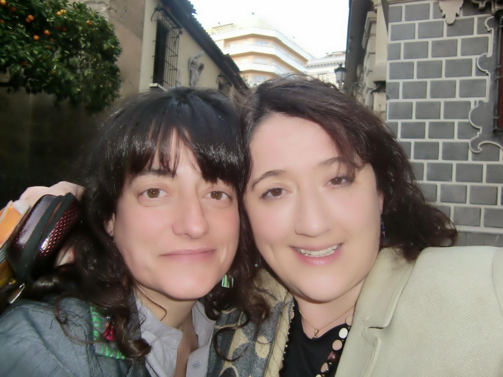 Con Anna Calero, mi gemelilla