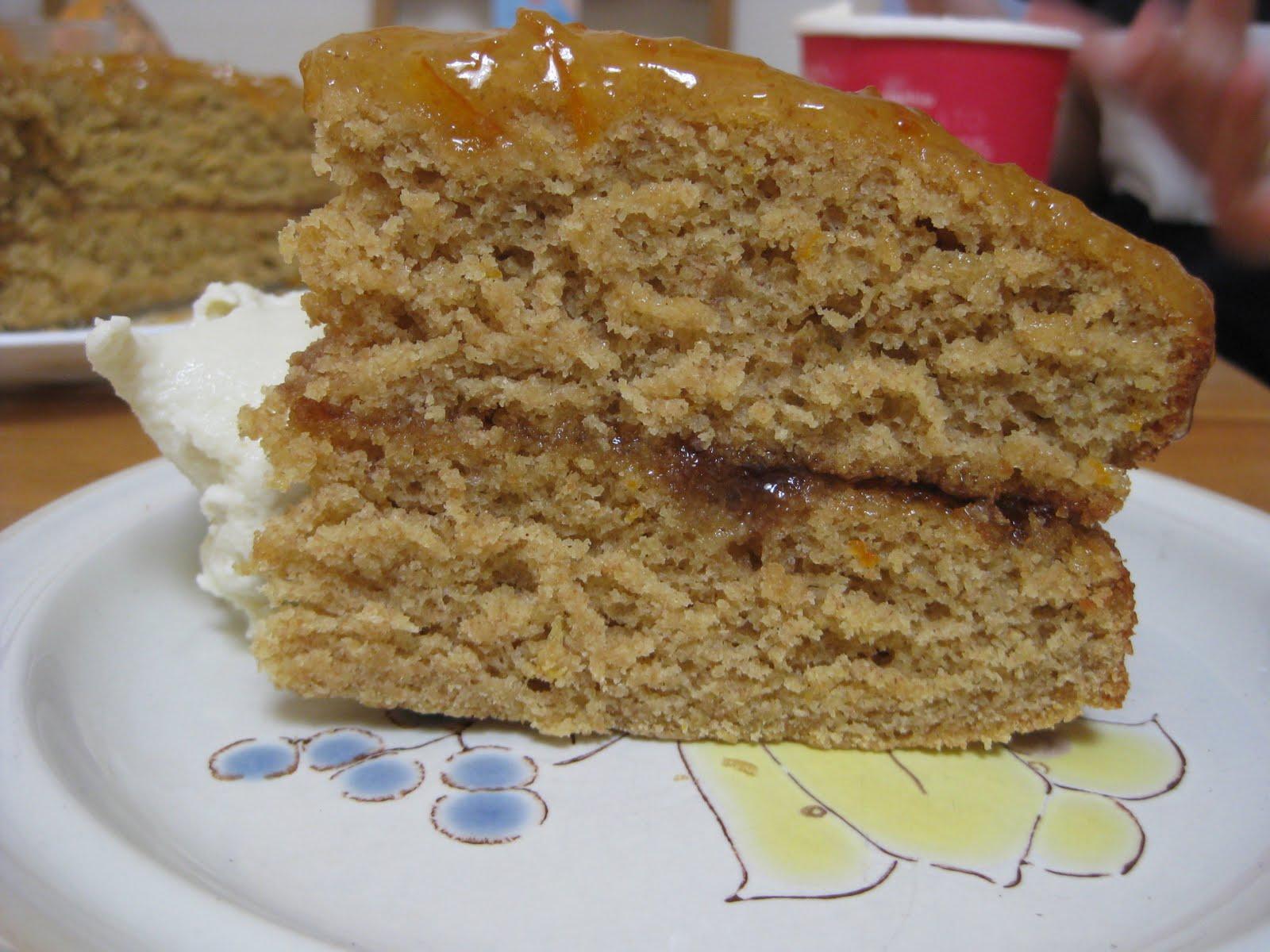 GO GO ZO: sticky orange cake with marmalade glaze (for breakfast)