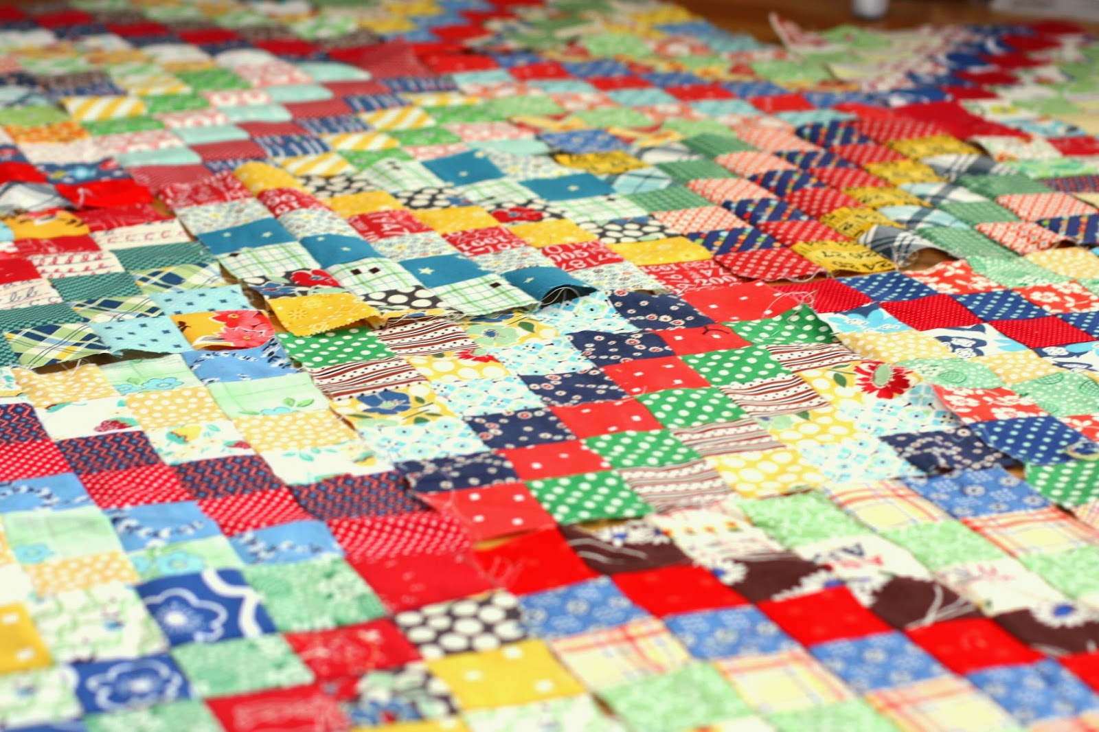 New Quilt Block and Scrappy Trip Around the World - Diary of a Quilter - a quilt blog