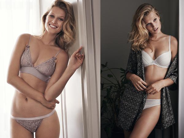 lencería H&M mujer conjunto sujetador y braga
