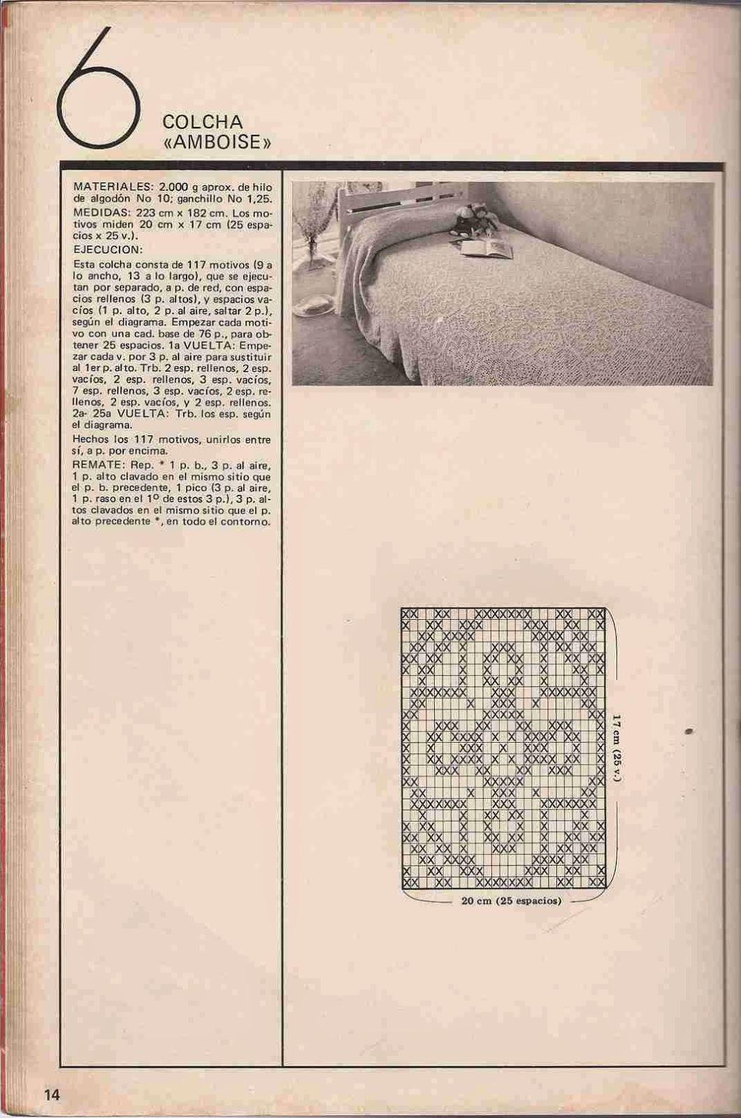 """#30 Colcha """"Amboise"""" a Crochet"""