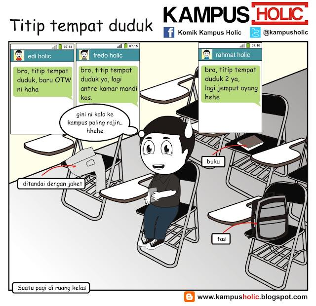 #117 Titip tempat duduk mahasiswa saat kuliah