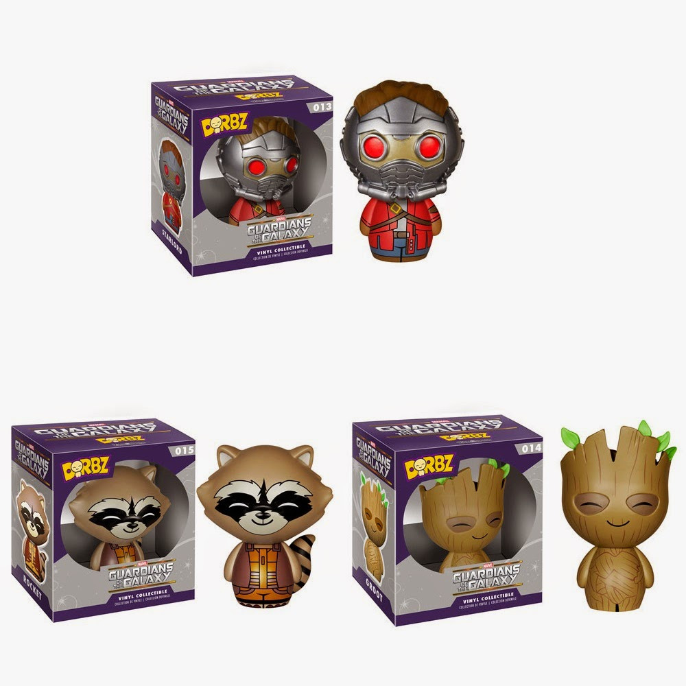 Guardians of the Galaxy Dorbz Vinyl Figure Series by Funko - Masked Star-Lord, Rocket Raccoon & Groot