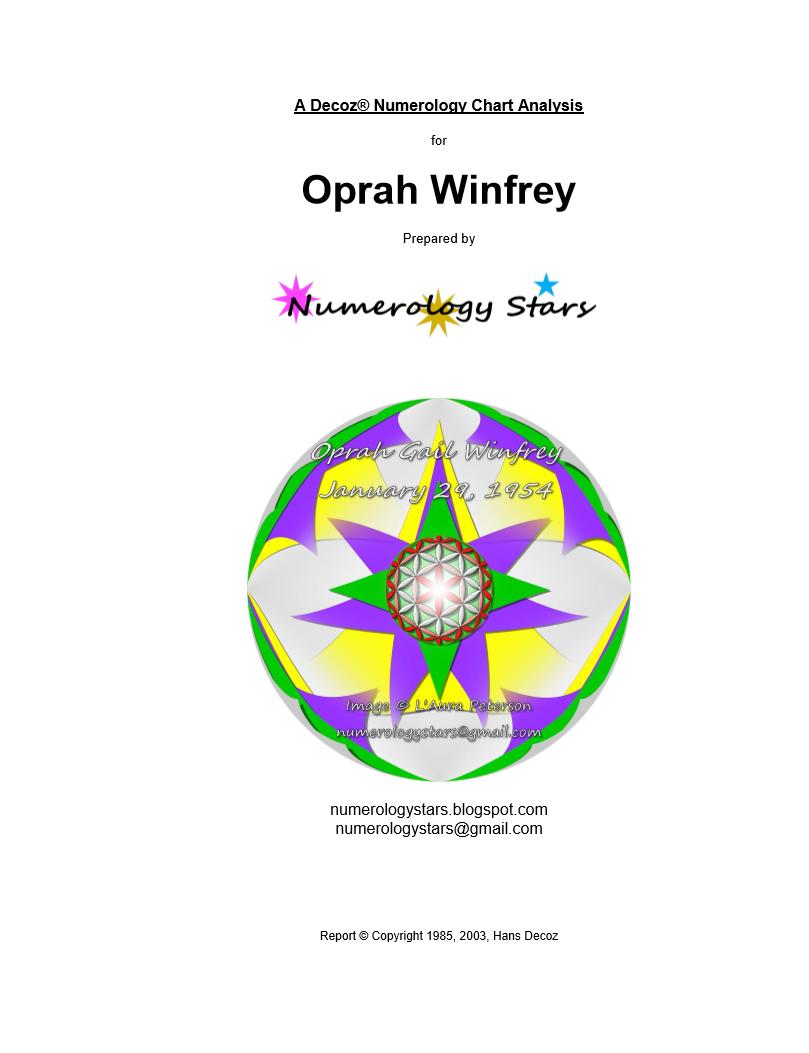 Sample Report For Oprah Winfrey