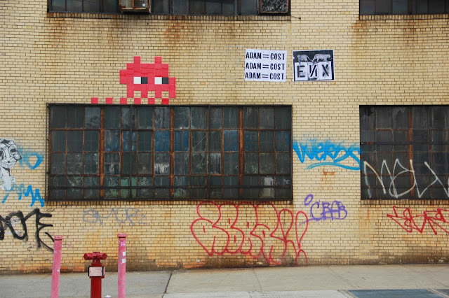 Invader Invades New York City - 2013 Edition - Collaboration With COST and ENX plus solo pieces. 2