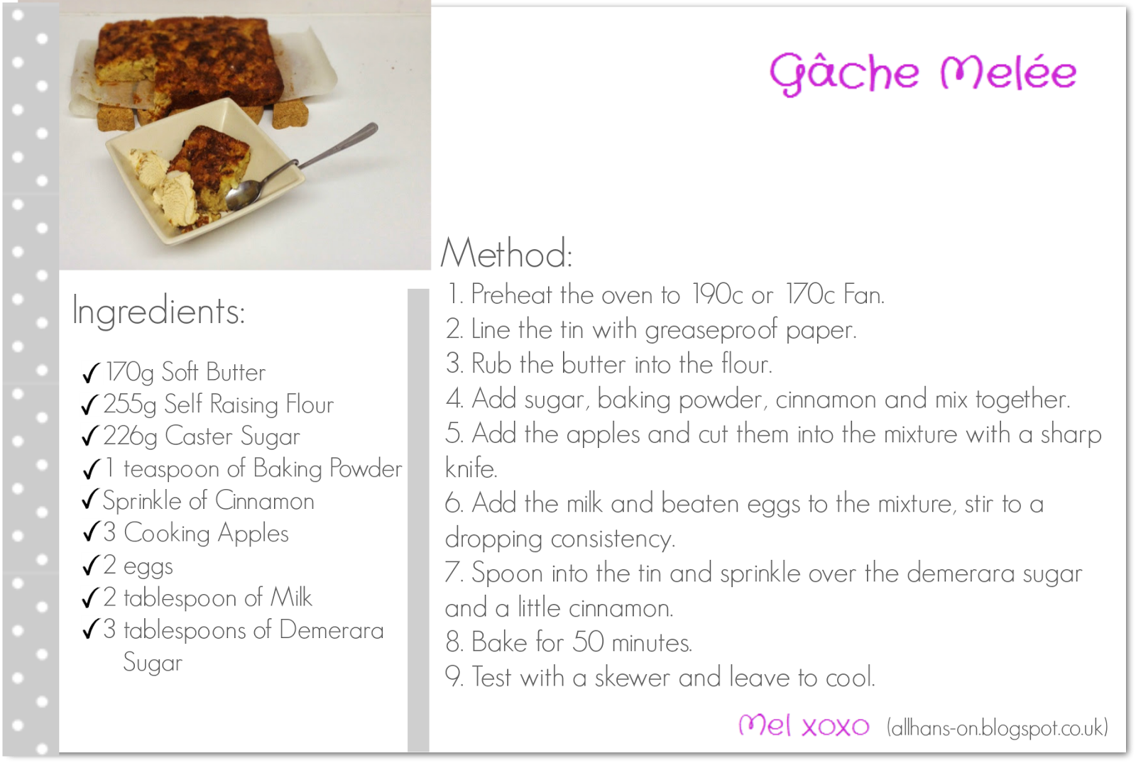 Click here for the printable Gâche Melée Recipe Card