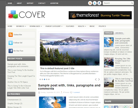 Cover Blogger Theme