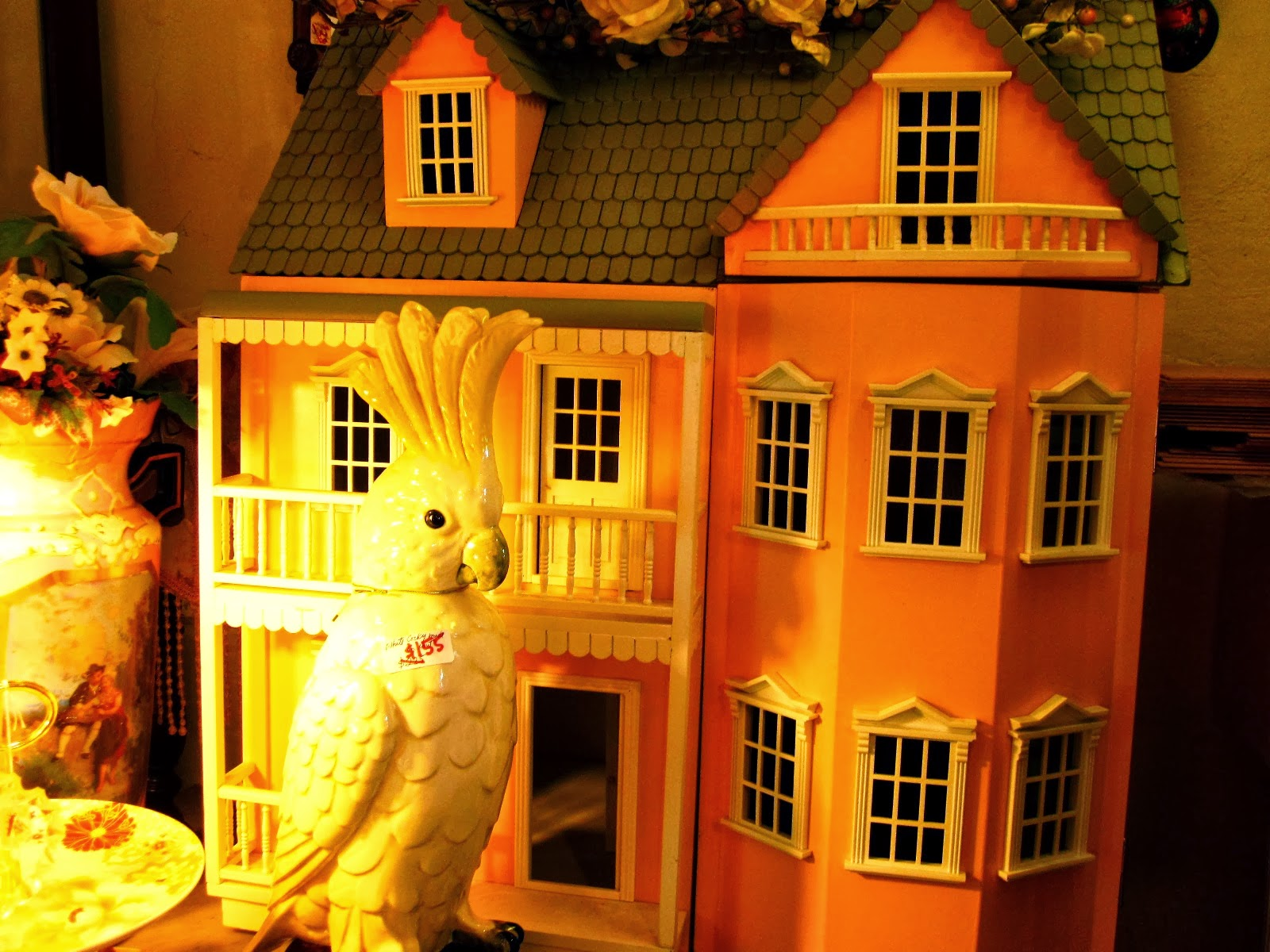 Dolls house for sale at The Old Tythe Barn dolls house shop at Blackheath