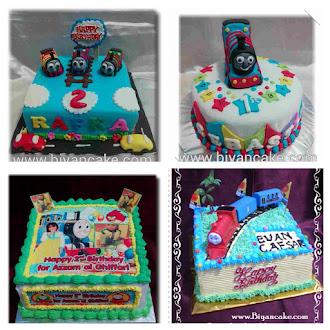 Cake kereta Thomas