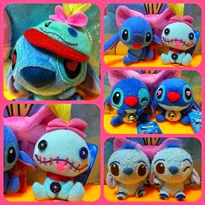 Cute Bells / Beanies Prize Stitch Scrump Plushes