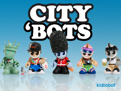 Kidrobot City 'Bots 3 Inch Mini Vinyl Figures - New York, San Francisco, London, Miami & Los Angeles
