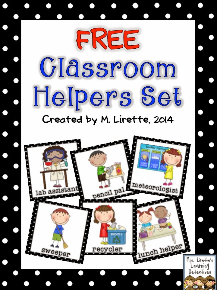 Classroom Design Jobs ~ Mrs lirette s learning detectives classroom helpers set