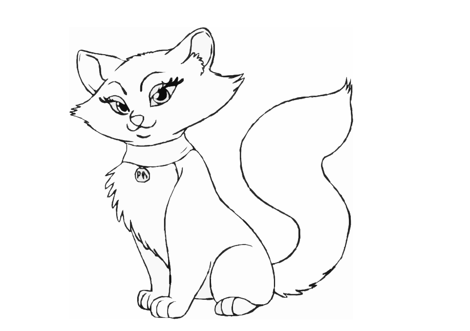 Cat Coloring Drawing Free wallpaper