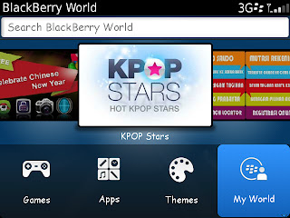 BlackBerry World v4.3.0.26 Menu