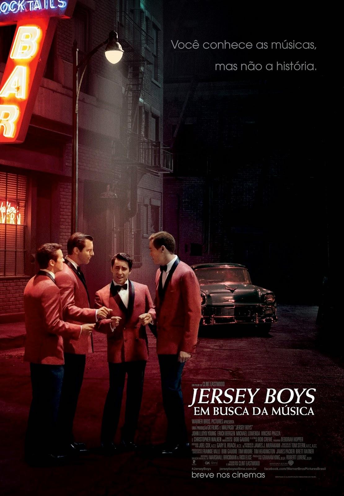 Pôster/capa/cartaz nacional de JERSEY BOYS: EM BUSCA DA MÚSICA (Jersey Boys)