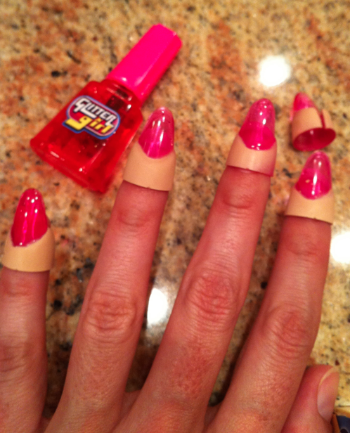 the gallery for gt fake nails for little girls